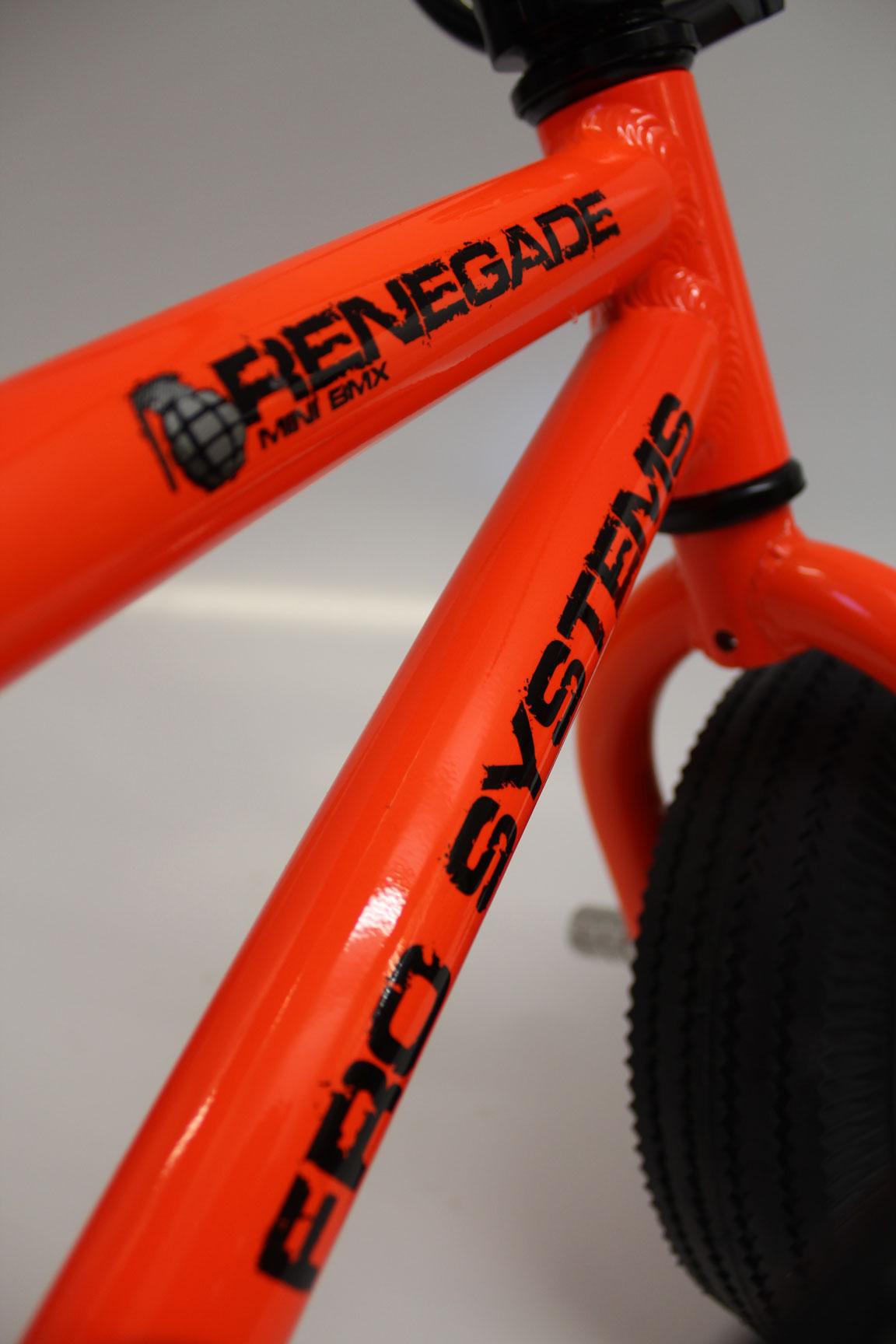Renegade Race Fuel >> Accessories & Parts - Renegade Mini BMX - Renegade - Orange - FRO Systems - Adrenaline Sports ...