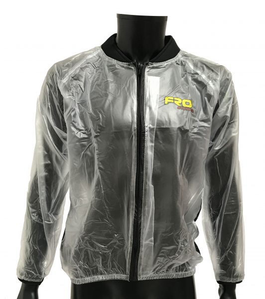 Adult clear waterproof race jacket