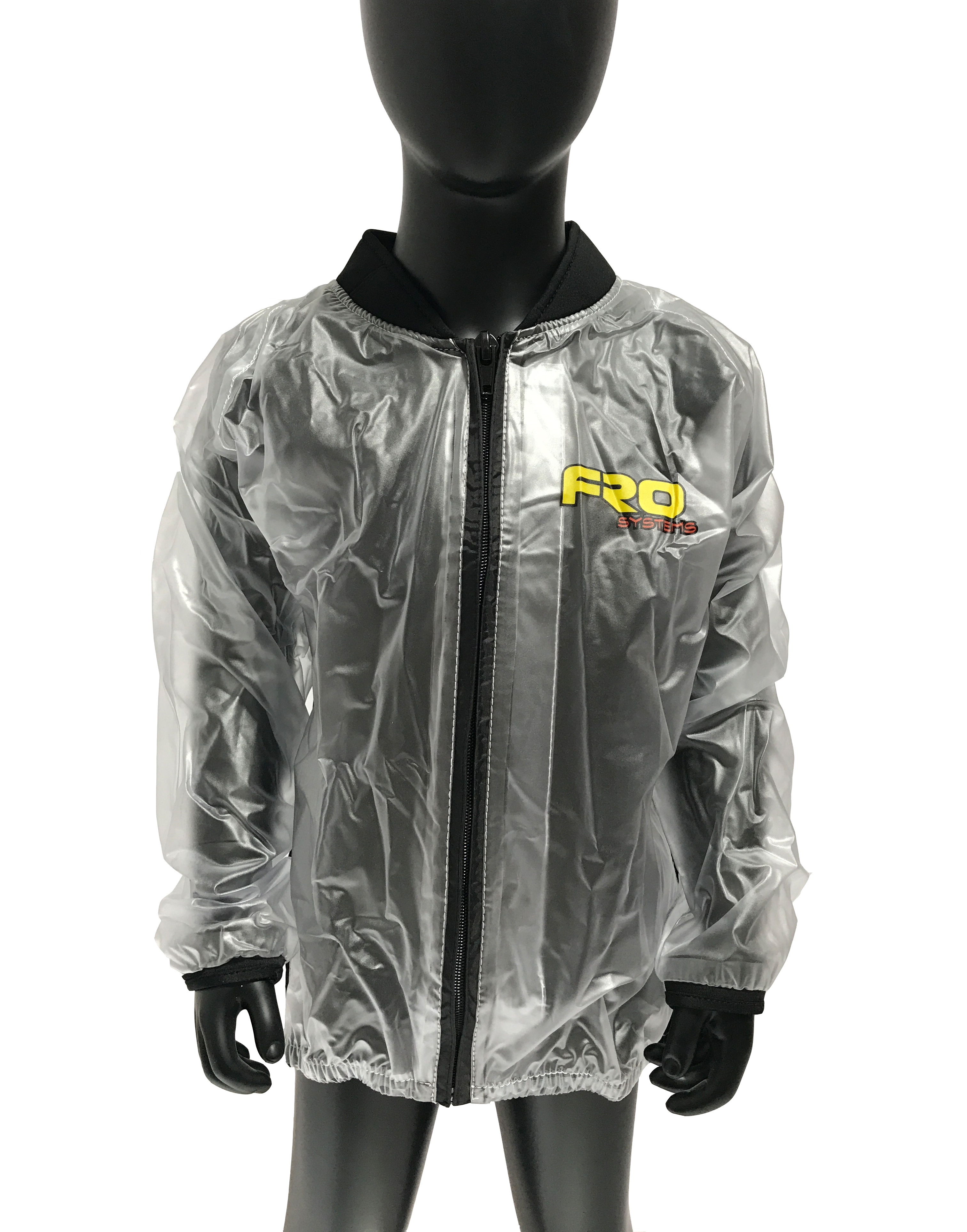 kids clear waterproof race jacket