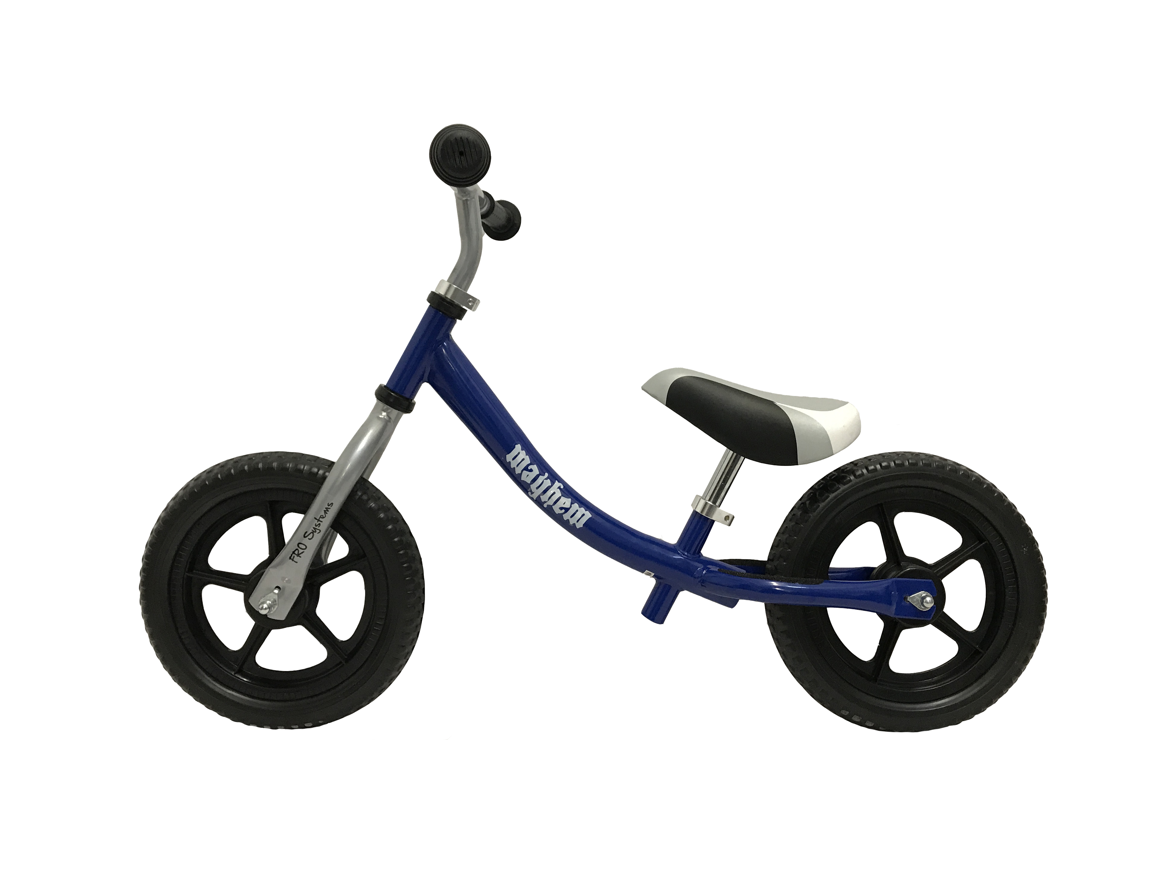 Blue Mayhem balance bike