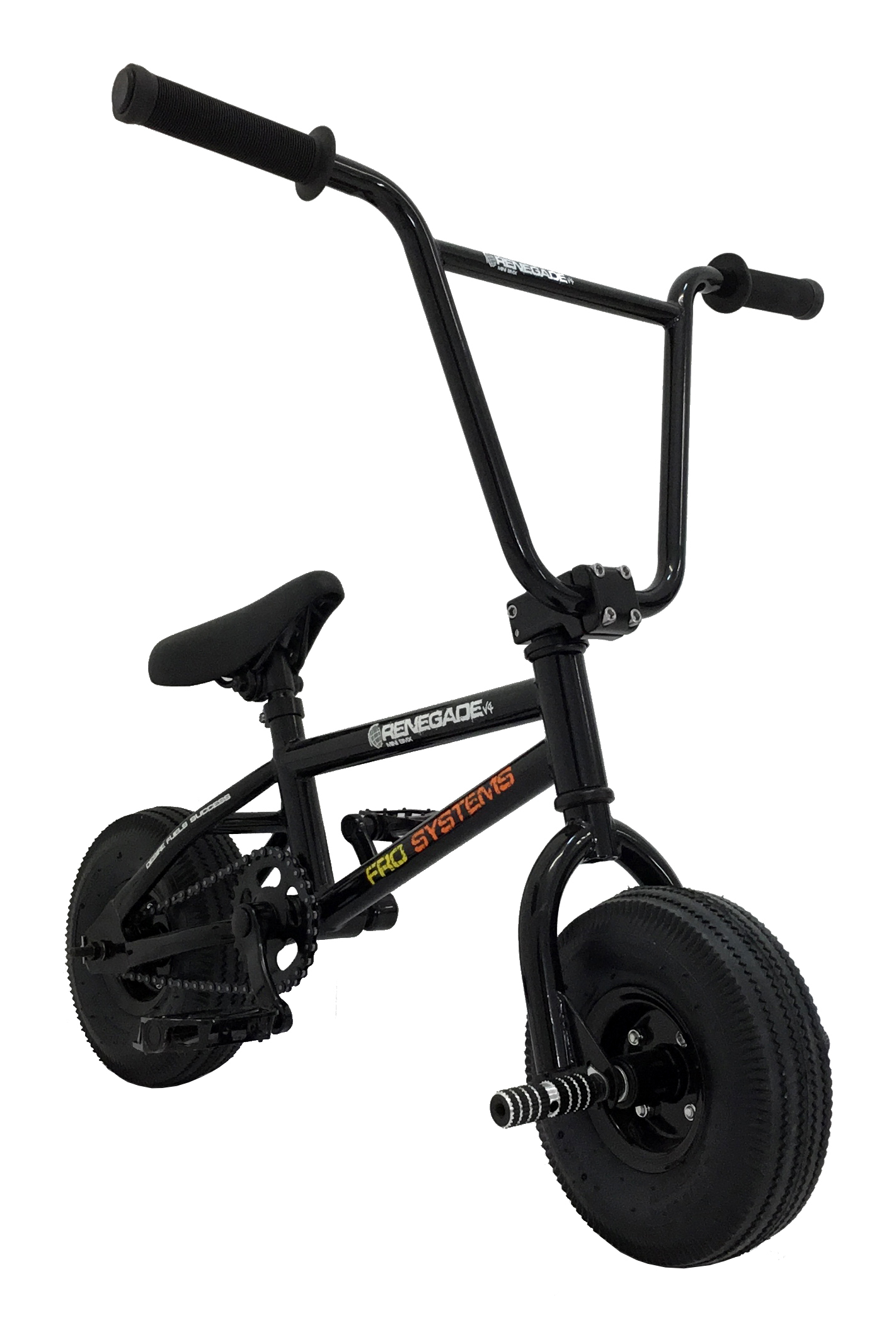 Black Renegade freestyle stunt mini bmx