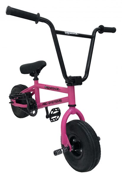fro systems fuchsia pink renegade freestyle stunt mini bmx
