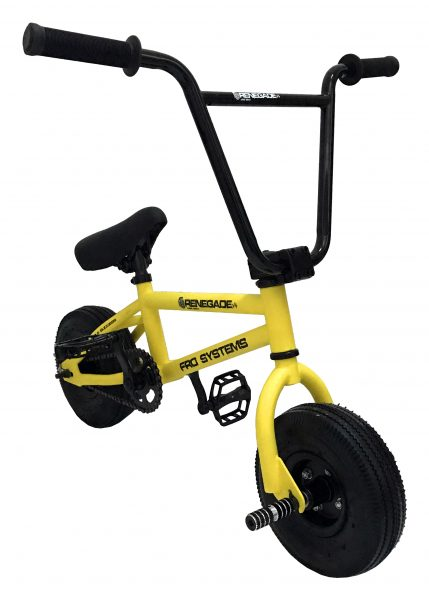FRO systems yellow renegade freestyle stunt mini bmx
