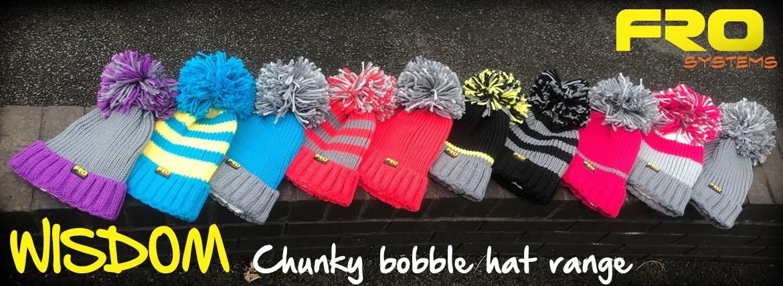 Wisdom Chunky bobble hat range